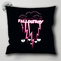 fall out boy pink pillow case, cushion cover ( 1 or 2 Side Print With Size 16, 18, 20, 26, 30, 36 inch )