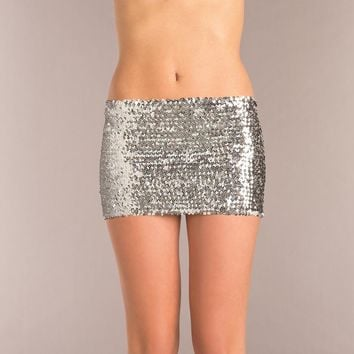 Bewicked Female SEQUIN SKIRT BW1677SL