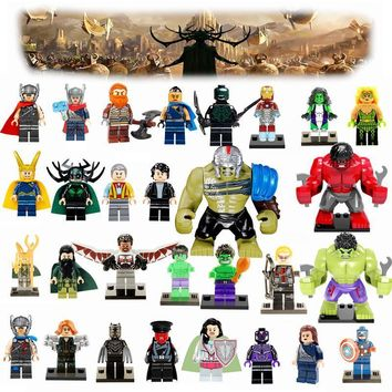 Deadpool Dead pool Taco Thor 3 Marvel DC Super Heroes Avengers Hulk Loki Iron Man  Batman Joker Legoing Superheroes Models Building Blocks Toys AT_70_6