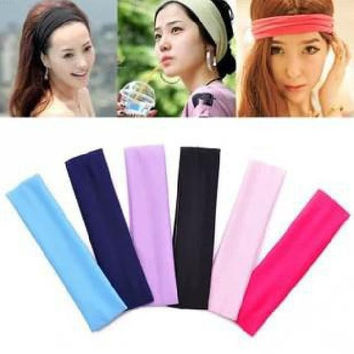 1PCS  women sport yoga fashion elastic headbands hair accessories = 1932475652