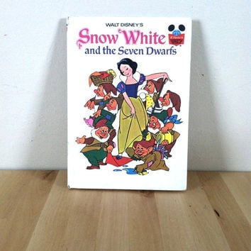 Walt Disney's Snow White and the Seven Dwarfs {1973} Vintage Book