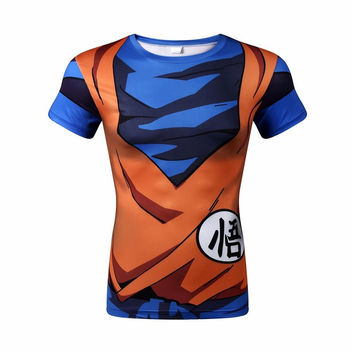 Goku short sleeve armor shirt