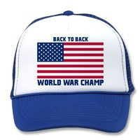 Back To Back Champions American Flag Hat from Zazzle.com