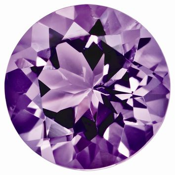 Loose Amethyst Gemstone  12mm Round AAA Quality