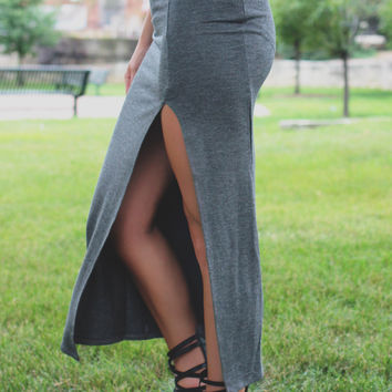 After Shock Skirt - Charcoal