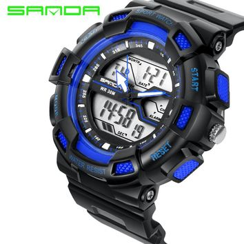 2017 Sanda Fashion Digital Watch Men G Style Waterproof Led Sports Military Watches S-shock Lovers Electronic Relogio Masculino