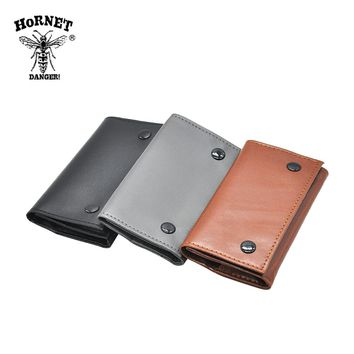 Artificial Leather Tobacco Pouch Pipe Cigarette Holder With 78mm Paper Holder Wallet Bag