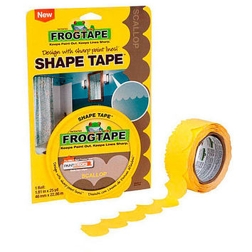 FrogTape Shape Tape Painters Tape: 1.81 in. x 75 ft. (Yellow