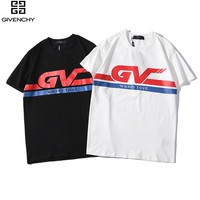 GIVENCHY Short Sleeve T-Shirt Top Tee for Summer Unisex