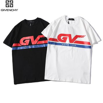 Copy of Modern T-Shirt GIVENCHY WORLD TOUR Front Logo T-Shirt Top Tee situxi
