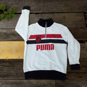 Puma Big Logo sweatshirt sport wear vintage design hip hop