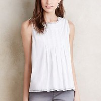 Harlyn Pleated Mina Tank in White Size: