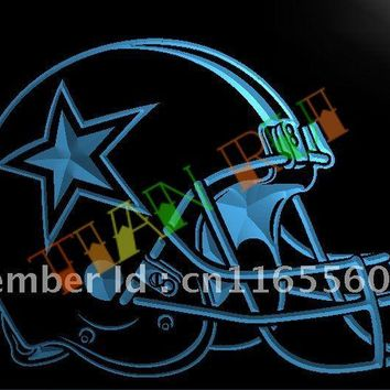LA236- Dallas Cowboys Helmet Beer Bar LED Neon Light Sign