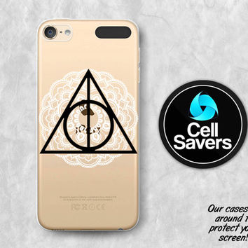 Deathly Hallows iPod 5 Case iPod 6 Case iPod 5th Generation iPod 6th Generation Rubber Case Gen Harry Potter Inspired Deathly Hallows Henna