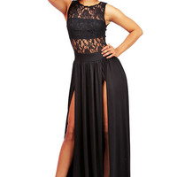 Empire Lace Maxi Dress