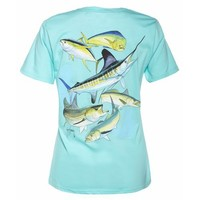 Guy Harvey Women's Big Hook Up T-shirt