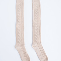 Over-the-Knee Knit Socks
