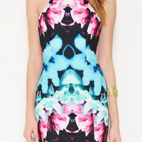 Aubrey Tropical Print Dress