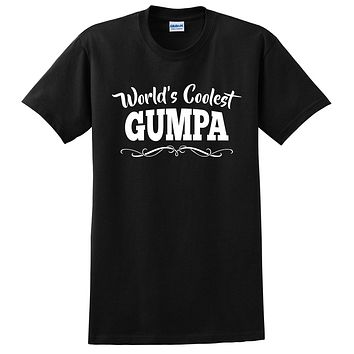 World's coolest gumpa Father's day birthday gift ideas for new grandpa proud grandfather gifts for him T Shirt