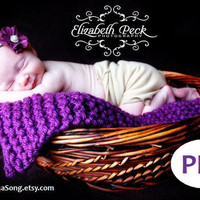 Mini Blanket Photo Prop Knitting Pattern PDF Number 123 by 4aSong