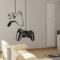 Game On  - Wall Decal Vinyl Decor Art Sticker Removable Mural Modern Xbox Ps3 Games Kids Video