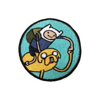 Iron on Adventure Time Finn and Jake embroidered patch