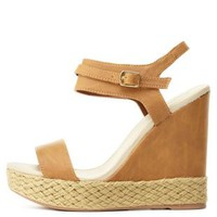 Qupid Platform Wedge Sandals by