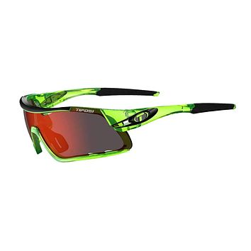 Tifosi - Davos Crystal Neon Green Sunglasses / Clarion Red + AC Red + Clear Lenses