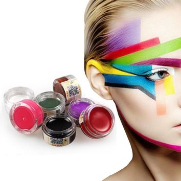 12 Colors Grease Face Paint Body Makeup Art Painting Drawing Pigment Flash Glow Color Fancy Paint For Party  Fancy Carnival Z3