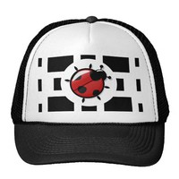 ladybug illustration trucker hat