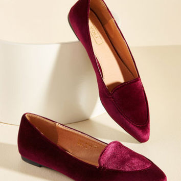 Best of Velvet Loafer in Wine | Mod Retro Vintage Flats | ModCloth.com