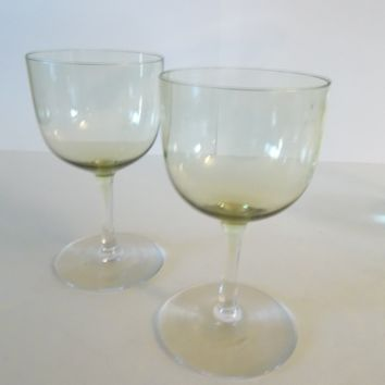 Cordial Glasses Yellow Tinted...YARD SALE