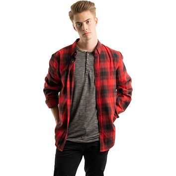 Flannel Shirt, Mesh Red