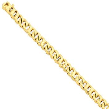 14k 8.5mm Hand-polished Traditional Link Chain LK118