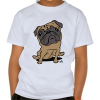 Pug printed caricature dog shirt