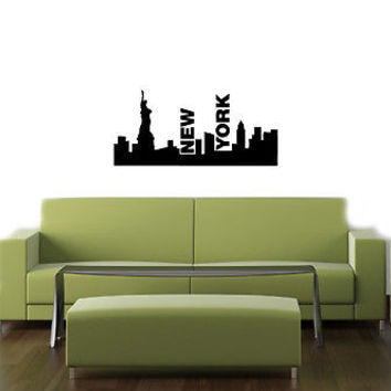 NEW YORK CITY USA CUTE DESIGN  WALL VINYL STICKER  DECALS ART MURAL D1461