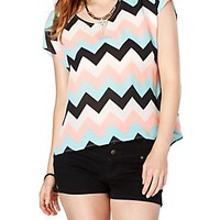 Pastel Chevron Boxy Top