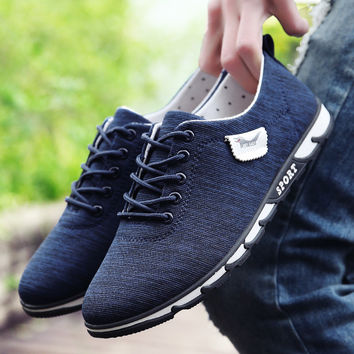 MOZOEYU 2017 New Fashion Men Casual Shoes Canvas Lace-up Men Driving Shoes High Quality Men Shoes Luxury Brand Leisure Shoes Men
