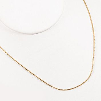 TL Chains Necklace For Men Thin Small Jewelry Necklace Gold Color Stainless Steel 1MM Rope Chain Gift Jewelry