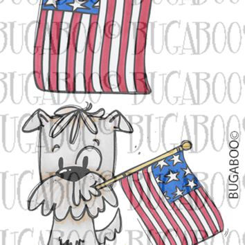 Baxter Pup 4th of July Rubber Stamp Set [00-901P8]