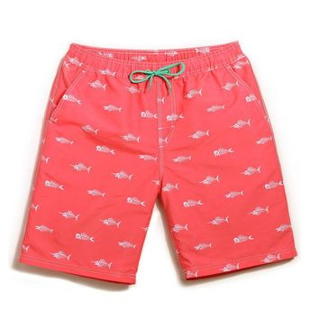 Fish Print Swimming Shorts - Available In 3 Colors
