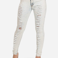 Cute Jeans-Fashion High Waist Jeans-Acid wash skinny ripped jeans
