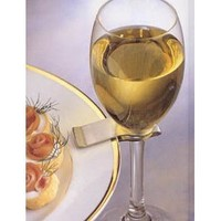 Prodyne Brushed Stainless Steel Stemware Plate Clip, Set of 6