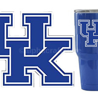 "UK Kentucky Wildcats Premium Vinyl Die Cut Decal for Phone, YETI, RTIC, Ozark Insulated Rambler Tumbler Cups 3""W"