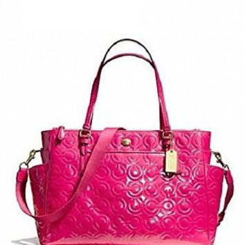 Coach Peyton Embossed Patent Leather MultiFuction Baby Bag