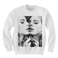 Lana del rey sweatshirt Black and White Sweatshirt Crewneck Men or Women Unisex Size