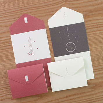 Sky Breeze Star Poem small folding letter paper set