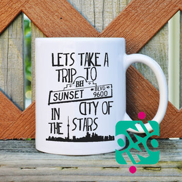 Sunsets Boulevard Quotes Coffee Mug, Ceramic Mug, Unique Coffee Mug Gift Coffee
