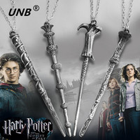 2016 Latest Harry Potter Magic Wand Necklace Keychain Key Chain Hermione Dumbledore Voldemort Wand Pendant woman accessories