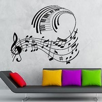 Wall Stickers Vinyl Decal Classical Music Sheet Cool Room Decor Unique Gift (ig1783)